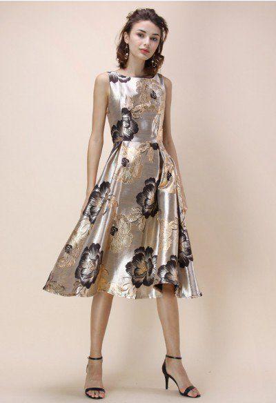 Magnificent Peony Jacquard Prom Dress | Prom dresses❤ | Pinterest ...