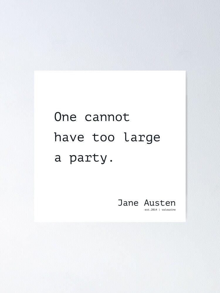 30 | Jane Austen Quote | 200928  Writer Literature Female Wall Decor Home Poster by valourine
