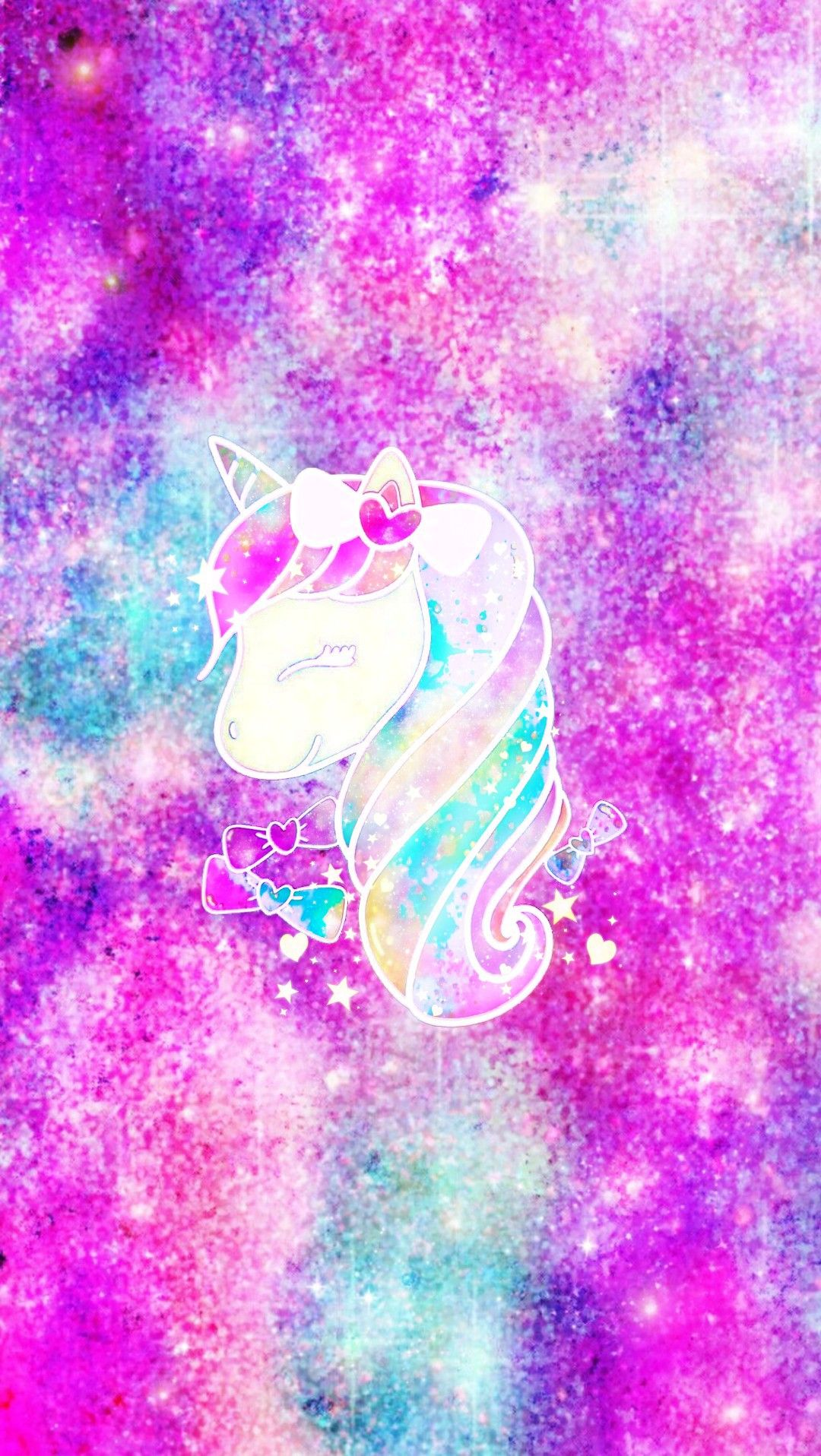 Cute Unicorn Galaxy Sticker By Mpink Background By Me