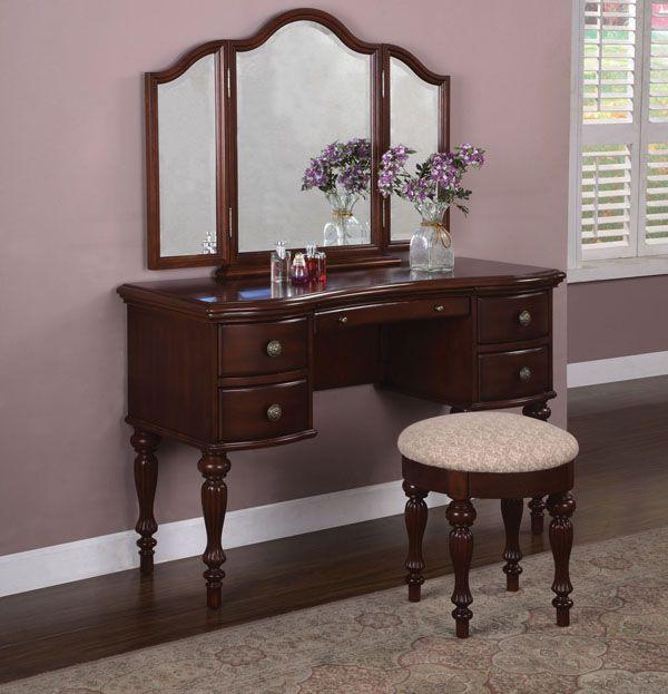 Powell Marquis Cherry Vanity, Mirror