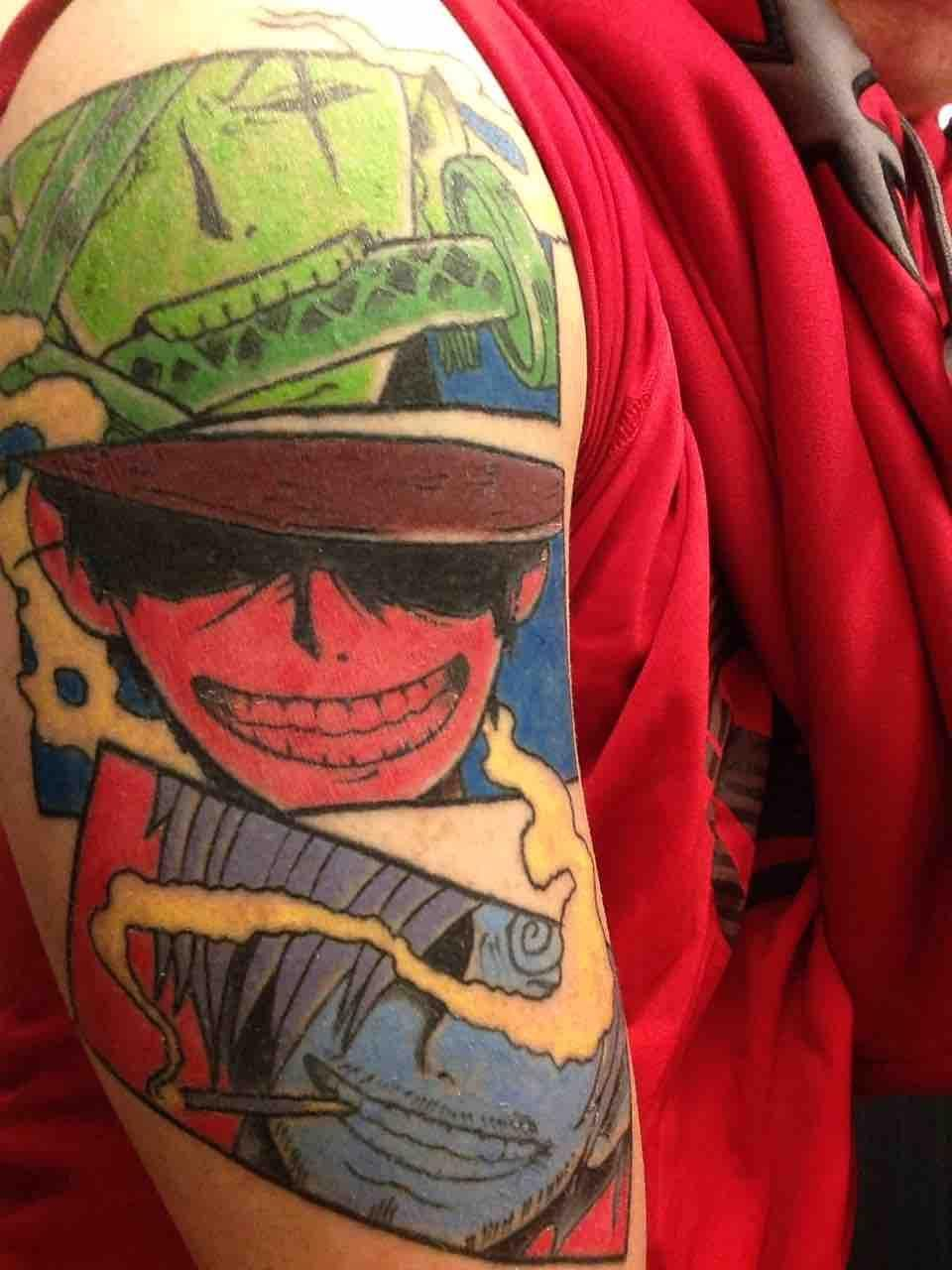 Finished tattoo. (With images) | One piece tattoos, Anime ...
