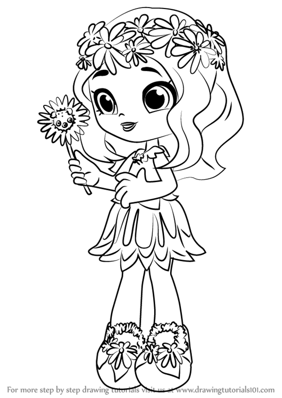 Shoppie Gemma Stone Coloring Page