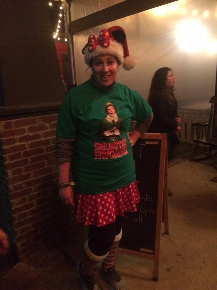 from #SparkleSister Katie R.  The Minnie skirt works well for many holidays! Christmas, Valentine's Day, 4th of July. Here is MinnieTech at an Elf pub run. I've had this skirt for several years; the new version is Minerva.  Snag one or BOTH! RedMiniTech: http://bit.ly/RedMiniTech Minerva: http://bit.ly/Sparkle-Minerva