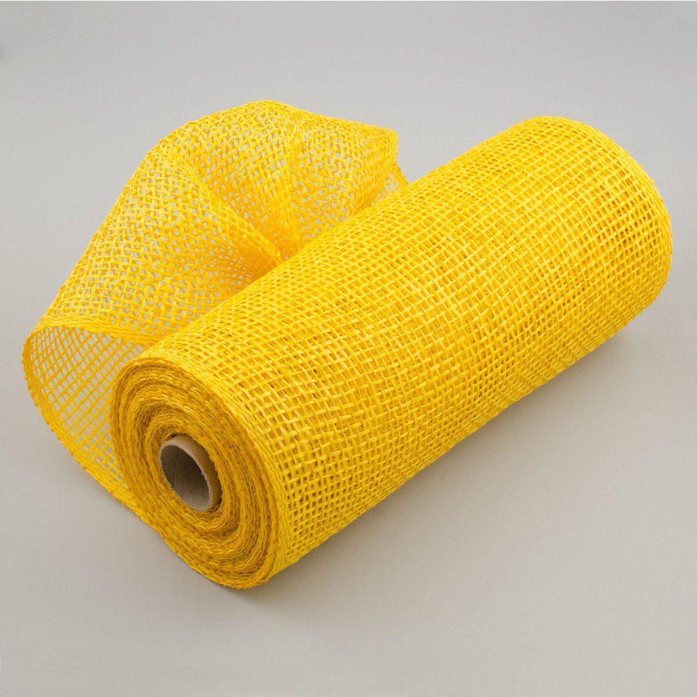 10 Poly Burlap Mesh Yellow Burlap Paper Mesh