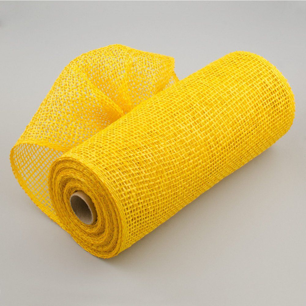 "10"" Poly Burlap Mesh: Yellow"