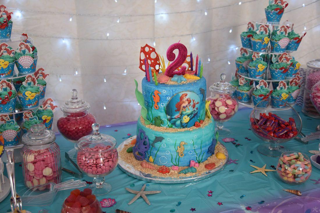 Disney Princess Ariel Birthday Party Cake Birthday Party Cake Princess Theme Birthday Party Ruby Cake