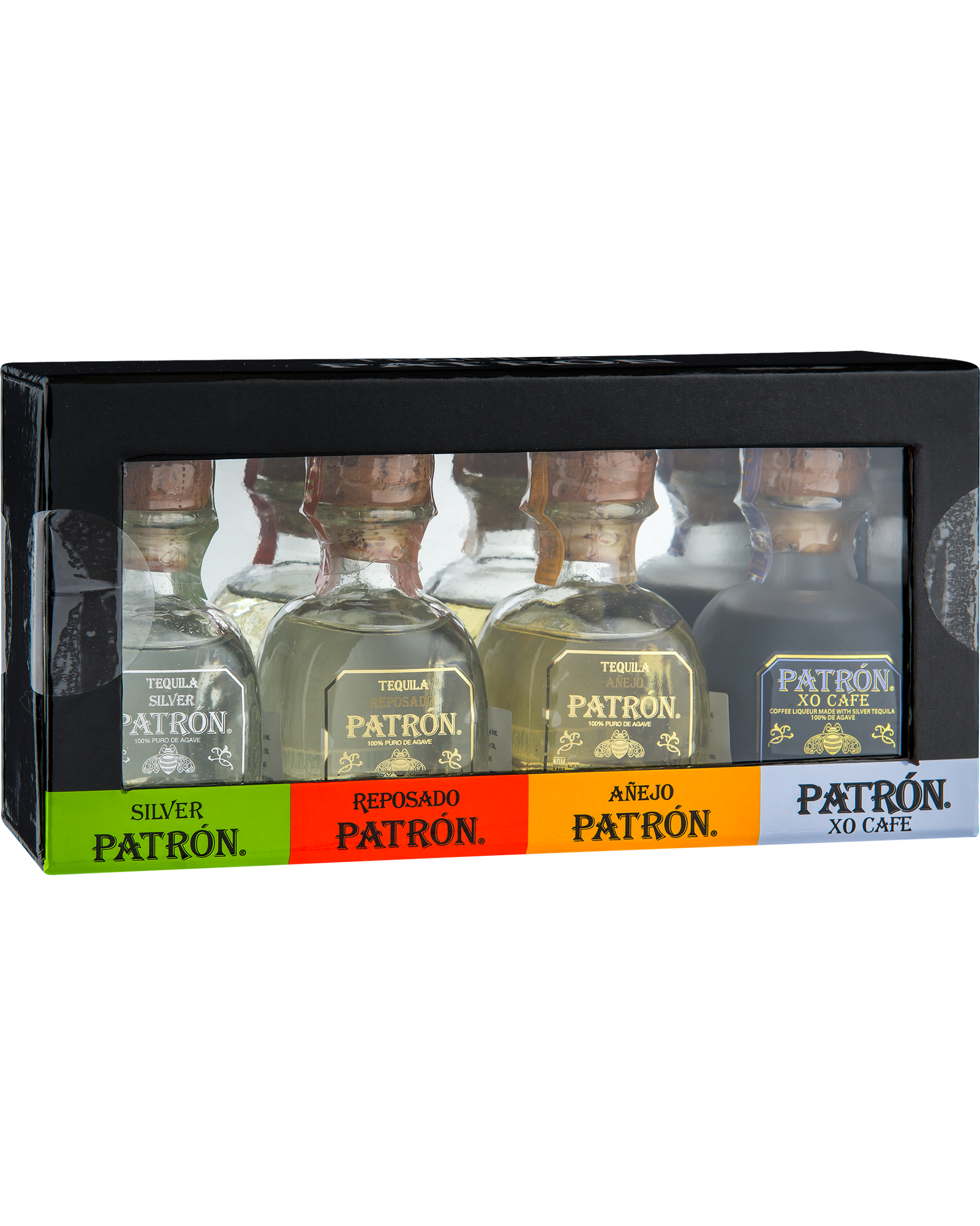 This Patron gift pack contains 4 x 50 ml bottles of various Patron Tequila making it