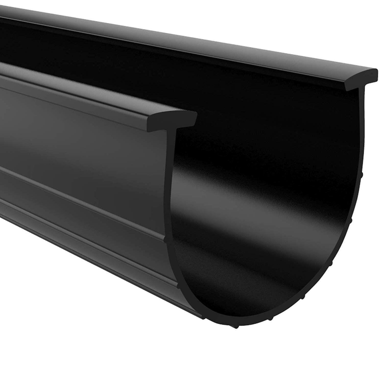 Garage Door Bottom Weather Seal TEnds 20' Long, Black