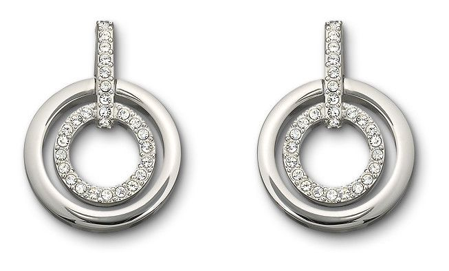 5af75686a SWAROVSKI CIRCLE CRYSTAL PIERCED EARRINGS 5007750 | Duty Free Crystal