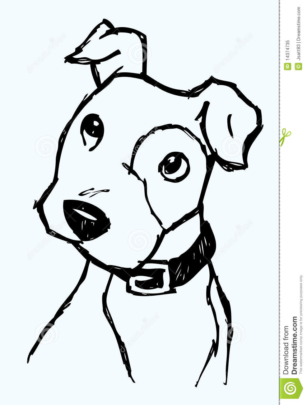 Curious Dog Sketch Stock Vector Illustration Of Pets 14374735 Dog Sketch Puppy Sketch Dog Face Drawing