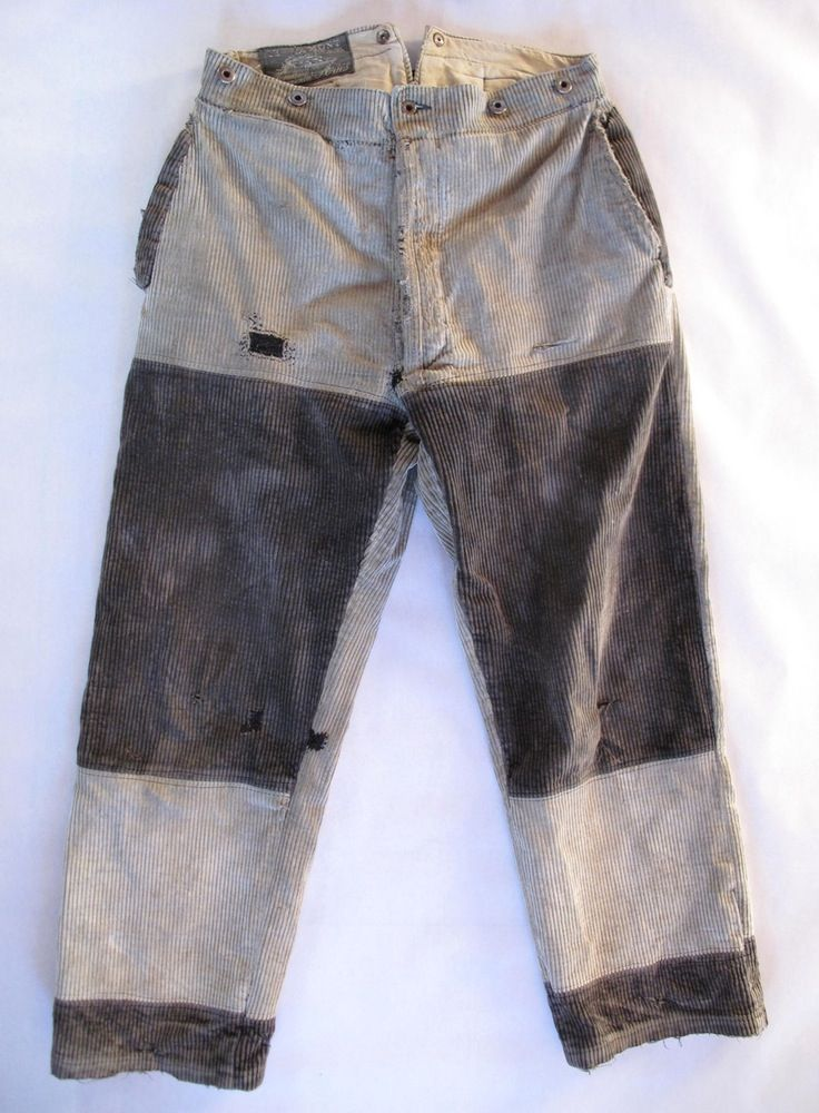1930's Faded & Patched French Corduroy Work Pants | Products ...