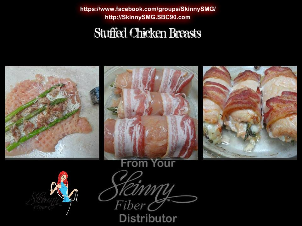 FOR MY LOW CARBERS. Everything tastes better with bacon! Stuffed Chicken Breasts w/Bacon  Full recipe with instructions are available in my healthy lifestyle group on facebook at: https://www.facebook.com/groups/SkinnySMG/ Or click on the source code to view on my public timeline. Join us on our journey to a healthier lifestyle! http://SkinnySMG.SBC90.com