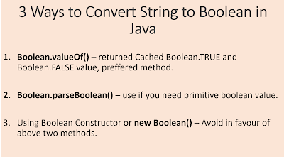 3 Ways to convert String to Boolean in Java? Examples | Java