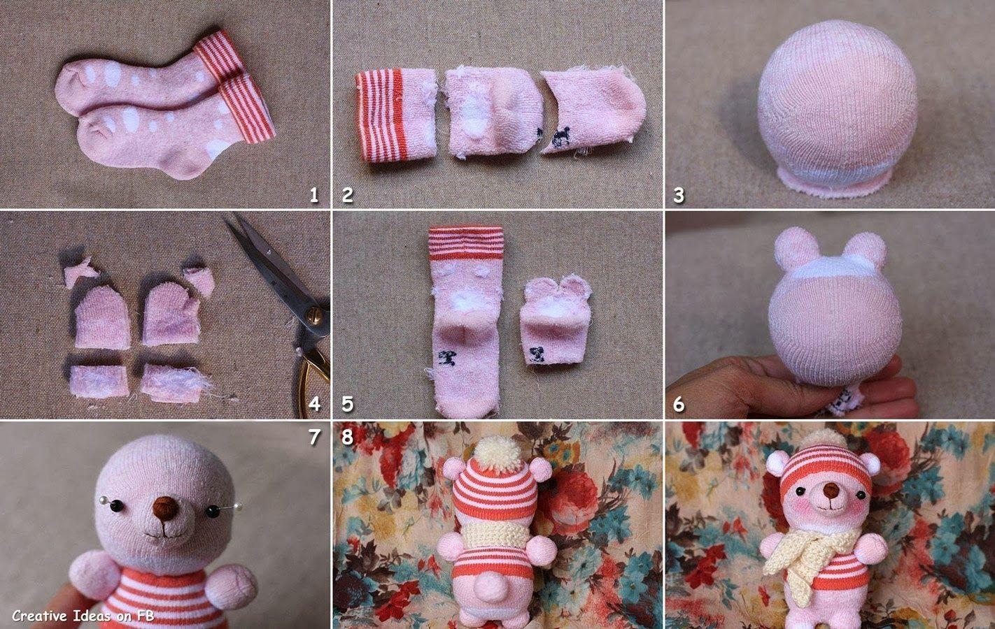 Osos de peluche paso a paso como hacer un mu eco con - Como hacer calcetines de lana ...