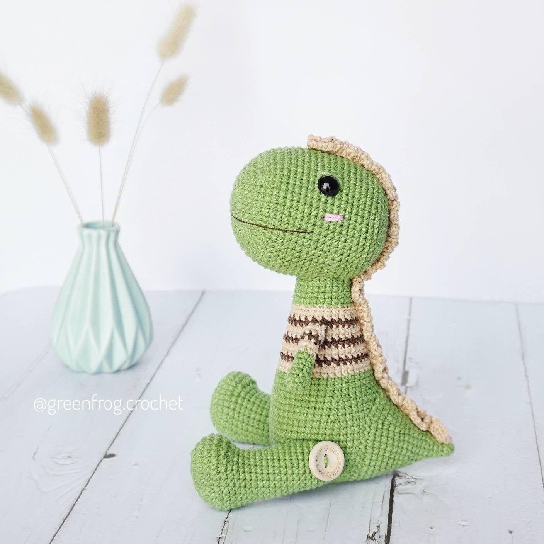 Amigurumi Dinosaur Pattern/ Crochet Dinosaur Pattern / Mr. T the dino crochet pattern / Tyrannosaurus crochet pattern #crochetdinosaurpatterns