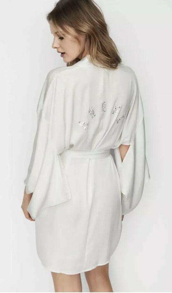 488e9e73ab Victoria s Secret Dream Angel Rhinestone Satin Short Kimono Robe Size M L   fashion  clothing  shoes  accessories  womensclothing  intimatessleep  (ebay link)
