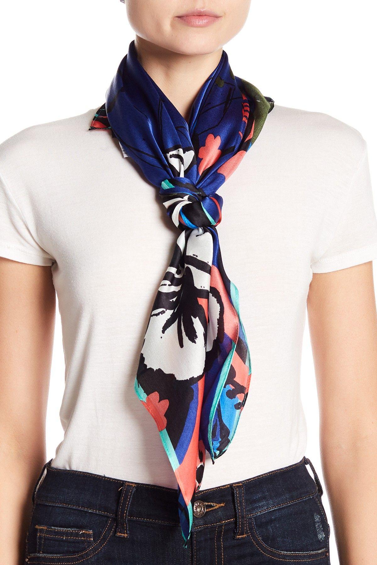 25d491eb0 Halogen | Print Silk Scarf | nordstrom | Silk scarves, Square scarf ...