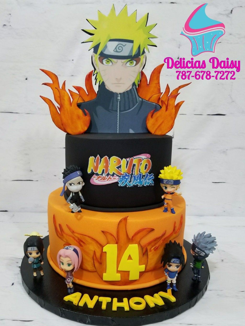 Fabulous Naruto Cake With Images Naruto Birthday Anime Cake Naruto Funny Birthday Cards Online Inifodamsfinfo