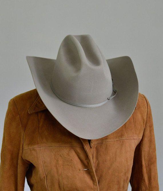 e61d3761e01d2 Resistol Gray Beaver 100 Cowboy Hat 7 1 4 by CowboyHookup on Etsy