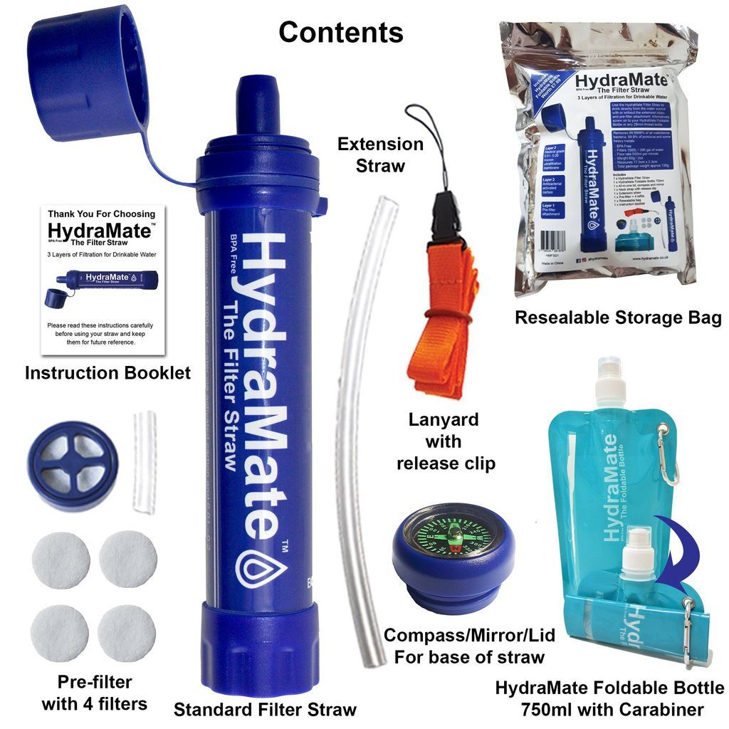 Hydramate water filter straw water filter straw clean