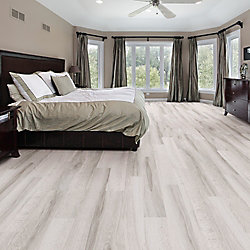 Allure Locking White Maple 7 5 Inch X 47 6 Inch Resilient Vinyl Plank Flooring 19 8 Sq F The In 2020 Luxury Vinyl Plank Flooring Bedroom Flooring House Flooring