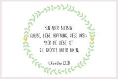 Taufspruch Glaube Liebe Hoffnung