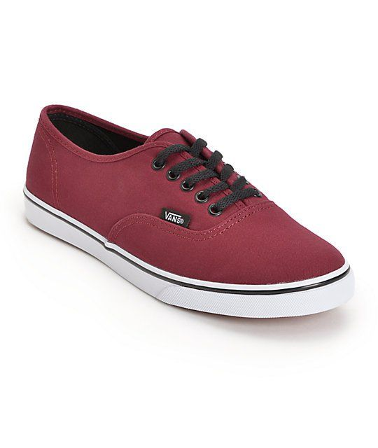 c4cec36fe5 The burgundy canvas upper finished with true white rubber side walls and  slim black laces