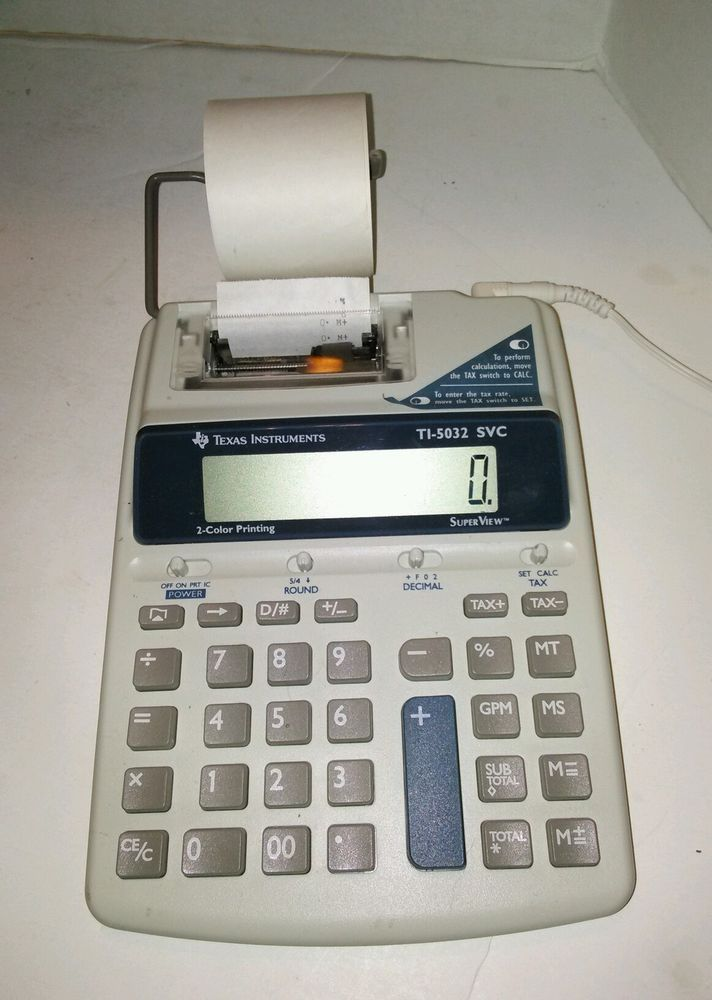 Texas Instruments TI-5032 SVC Scientific Calculator Printing