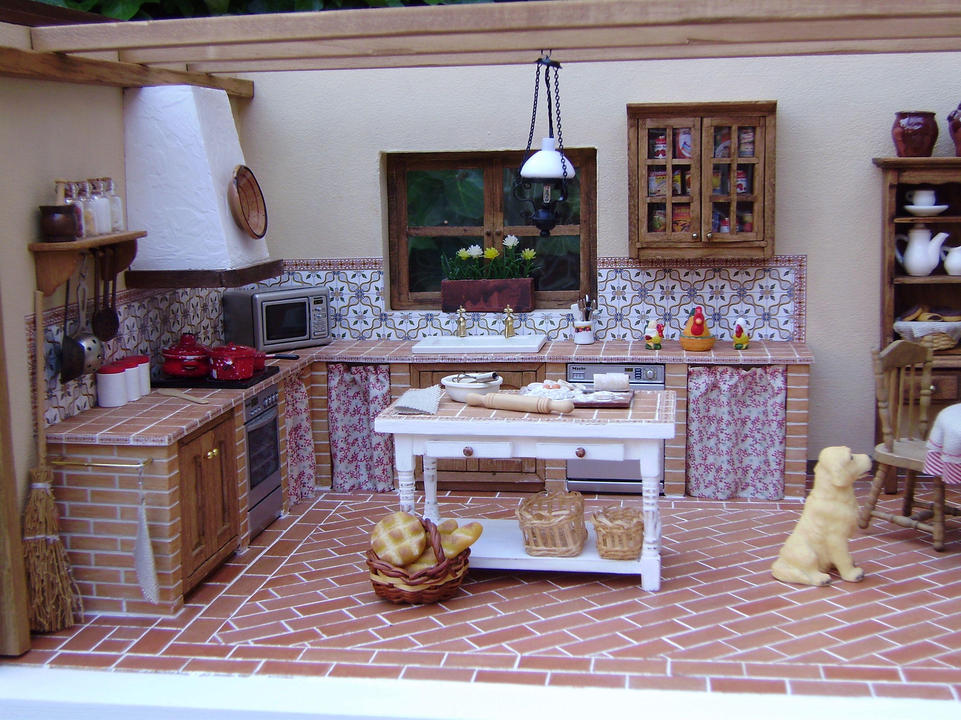 Cocina r stica minatures pinterest cocinas r sticas r stico y miniaturas - Cocinas de obra rusticas ...