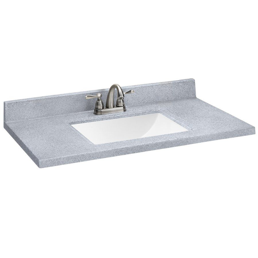 Style Selections SQ2 Pepper Solid Surface Single Sink Vanity Top ...