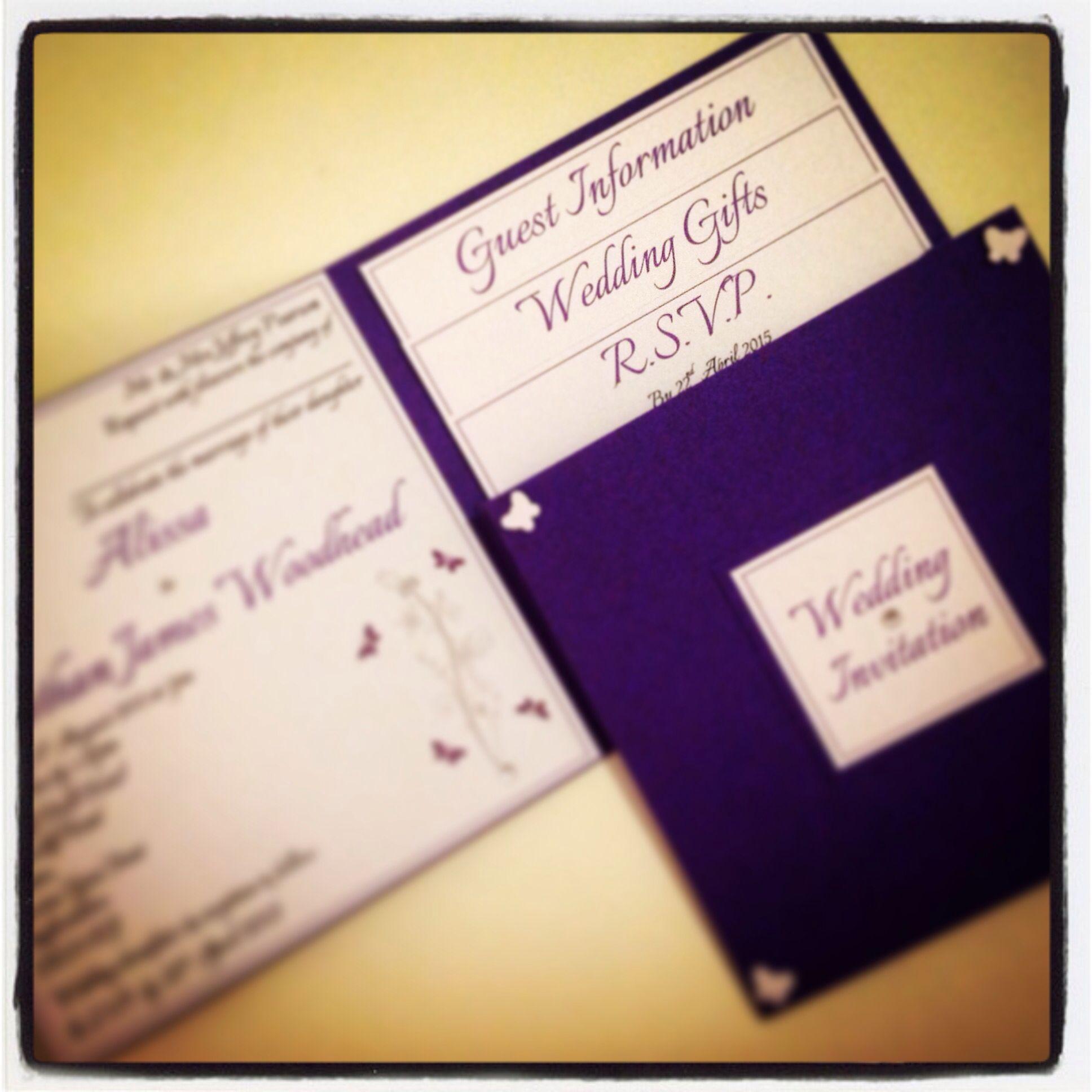 Cadbury purple wedding invitations | Weddings By Winslow | Pinterest ...