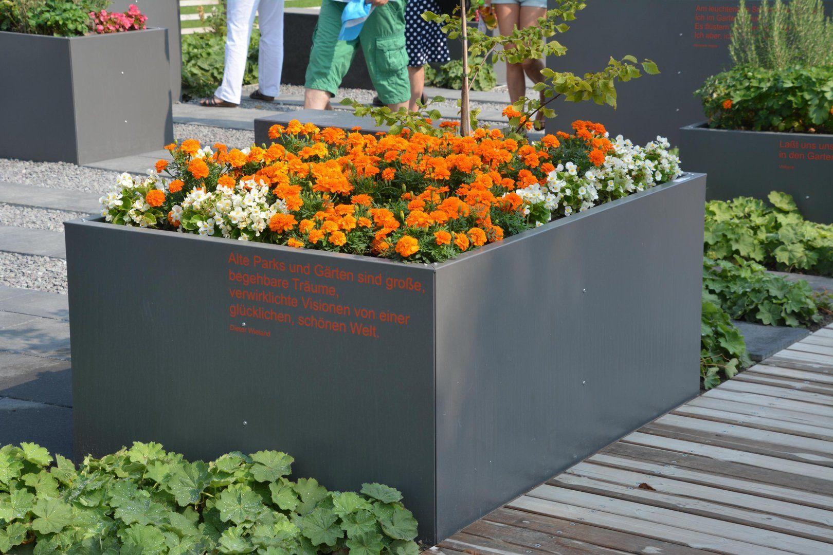 Hochbeet Urban Metall 0 3 X 0 3 M Hohe 0 5 M Beschichtet Hochbeet Vorgarten Modern Und Garten Hochbeet