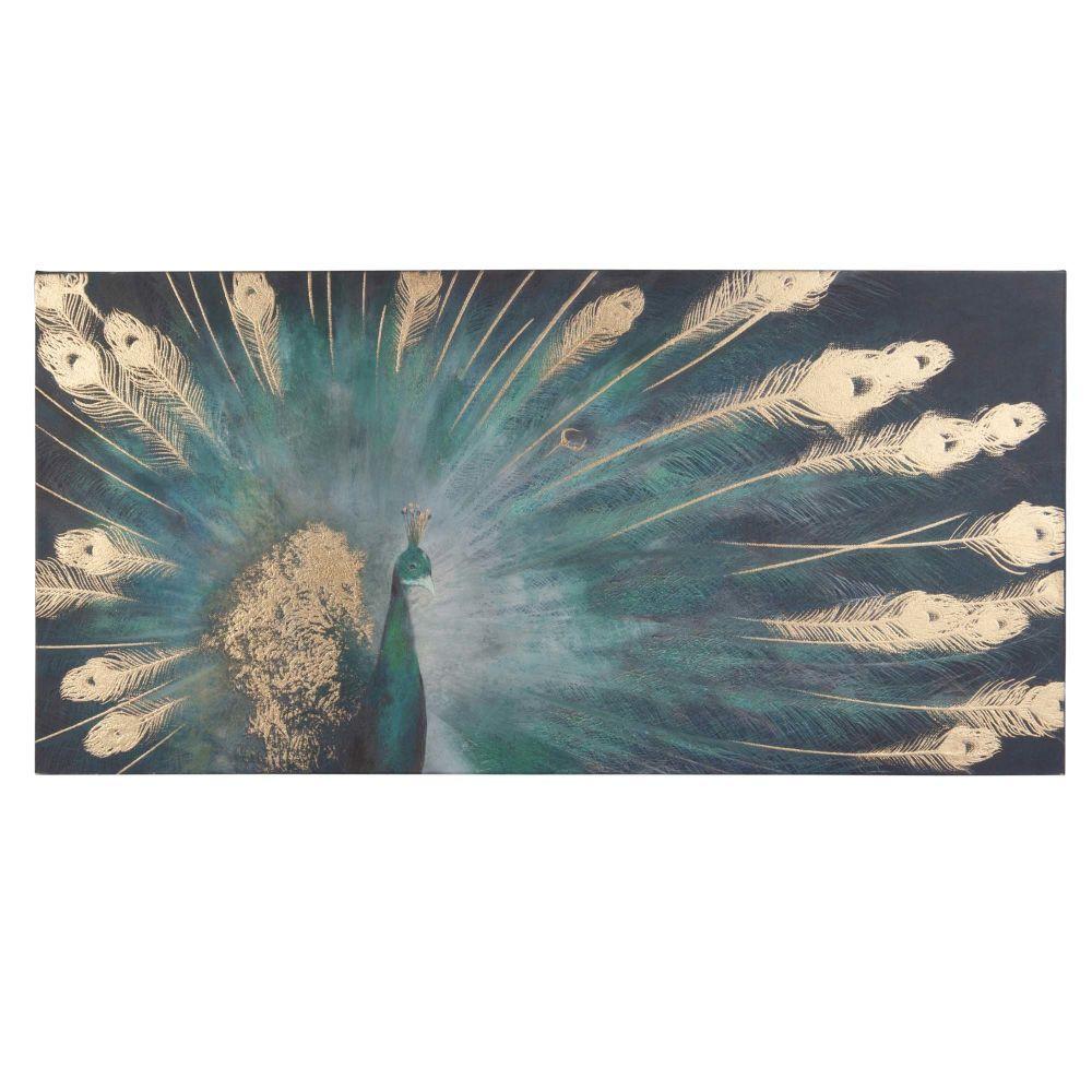Deco Murale Housses Et Coussins Scandi Peacock Canvas