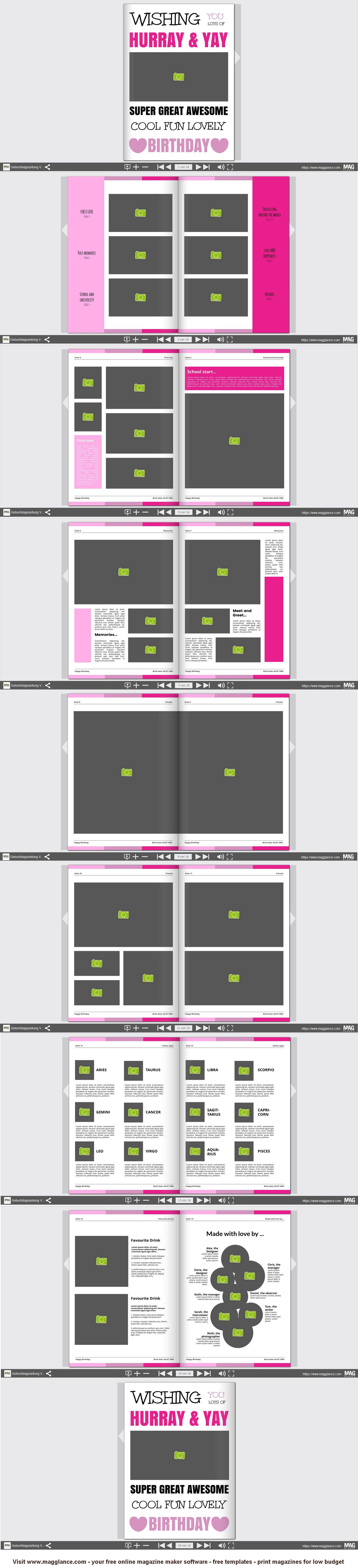pin von mag glance germany auf geburtstagsszeitung vorlagen in 2018 pinterest. Black Bedroom Furniture Sets. Home Design Ideas