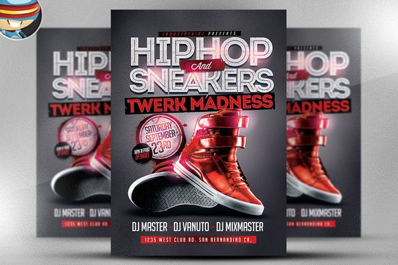 Check Out Hip Hop And Sneakers Flyer Template By Flyerheroes On