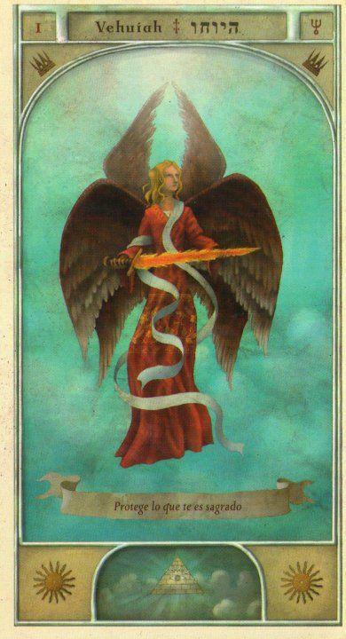 (1) VEHUIAH (Kabbalistic angel) protects those born 21- 25 March, helps find the way and fight enemies. (ángel Cabalístico) protege aquellos nacidos 21 - 25 marzo, ayuda a encontrar el camino y combatir a los enemigos.