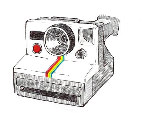 Polaroid Camera Camera Sketches Camera Drawing Polaroid Camera