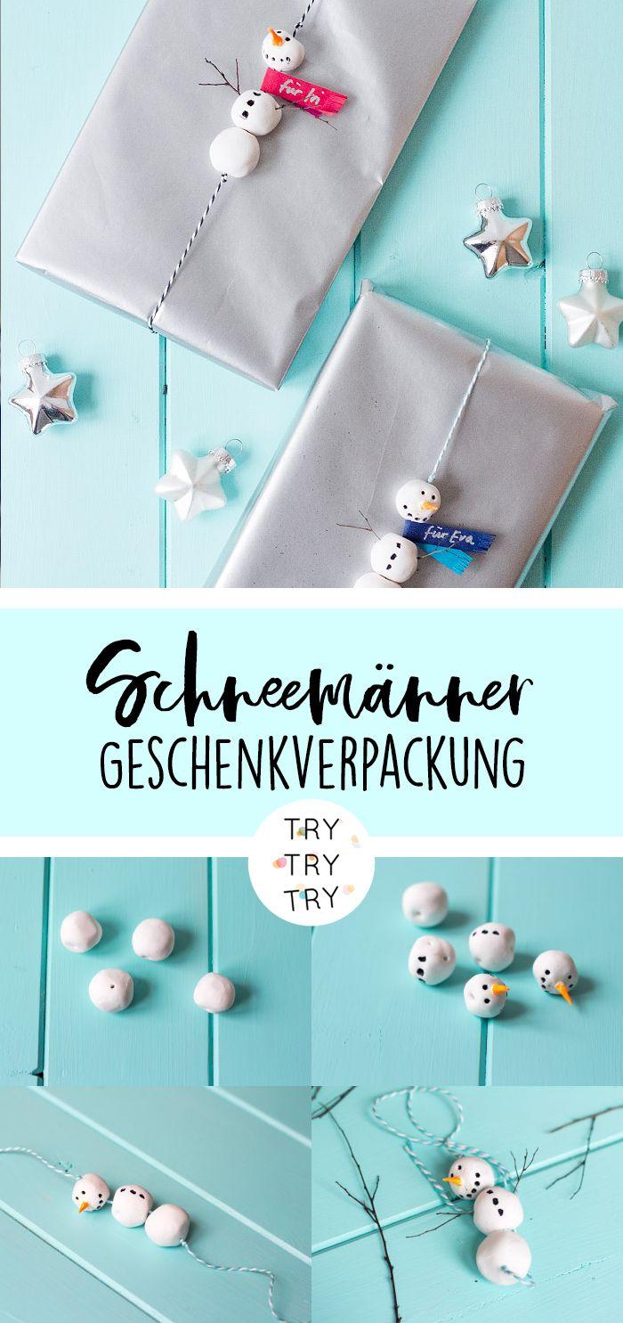 Schneemänner - Geschenkverpackung // Schneemann ...