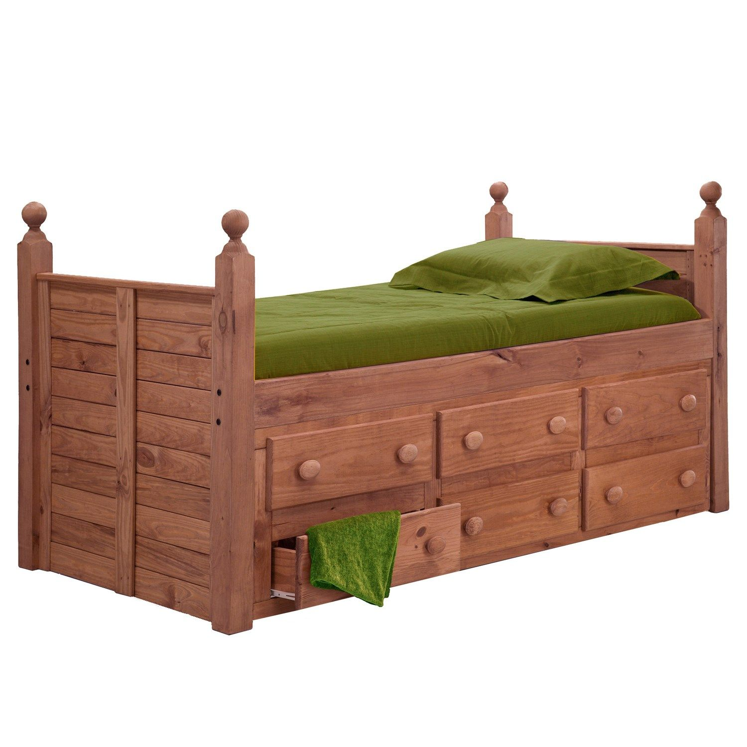 Chelsea Home Furniture 31950 Twin Panel Post Bed with 6
