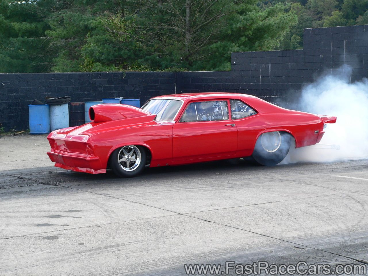 Drag Cars Drag Race Cars Novas Picture Of Red Nova Drag Car Doing Burnout Drag Racing Cars Drag Cars Chevy Muscle Cars