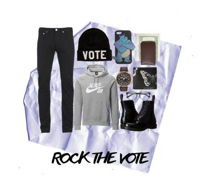 """Rock The Vote"" by overdue22 on Polyvore featuring Paul Smith, NIKE, Reason, Citizen, Wet Seal, Dr. Martens, Alexander McQueen, Royce Leather, country and men's fashion"