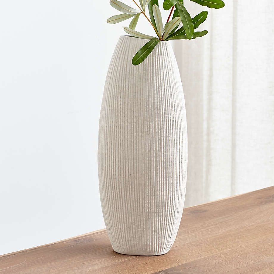 Alura Cream Tall Vase Reviews Crate And Barrel Tall Vases Tall Floor Vases Vases Decor