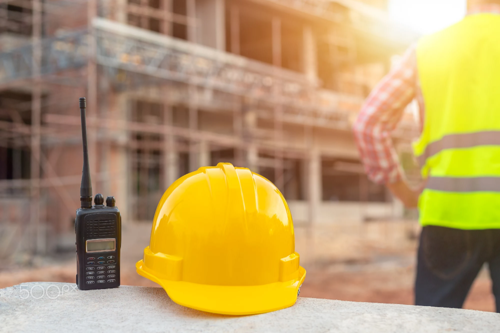 Radio And Helmet In Construction Site And Construction Site Work 500px