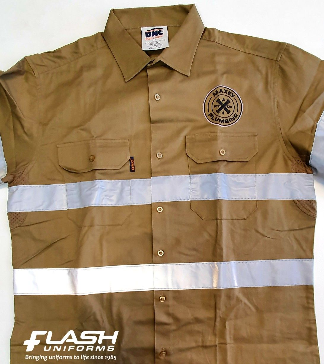 DNC Workwear Hi Vis Cool-Breathe Sublimated Piping Polo with Button Down Pocket