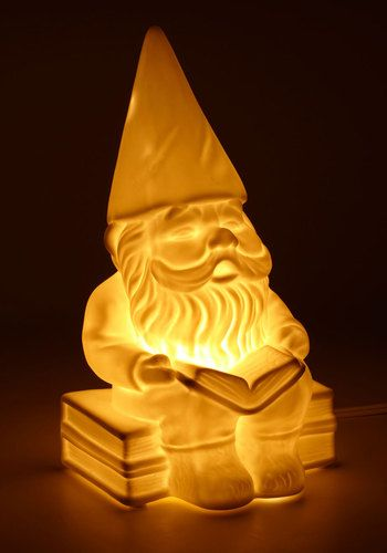 Welcome gnome porcelain lamp modcloth
