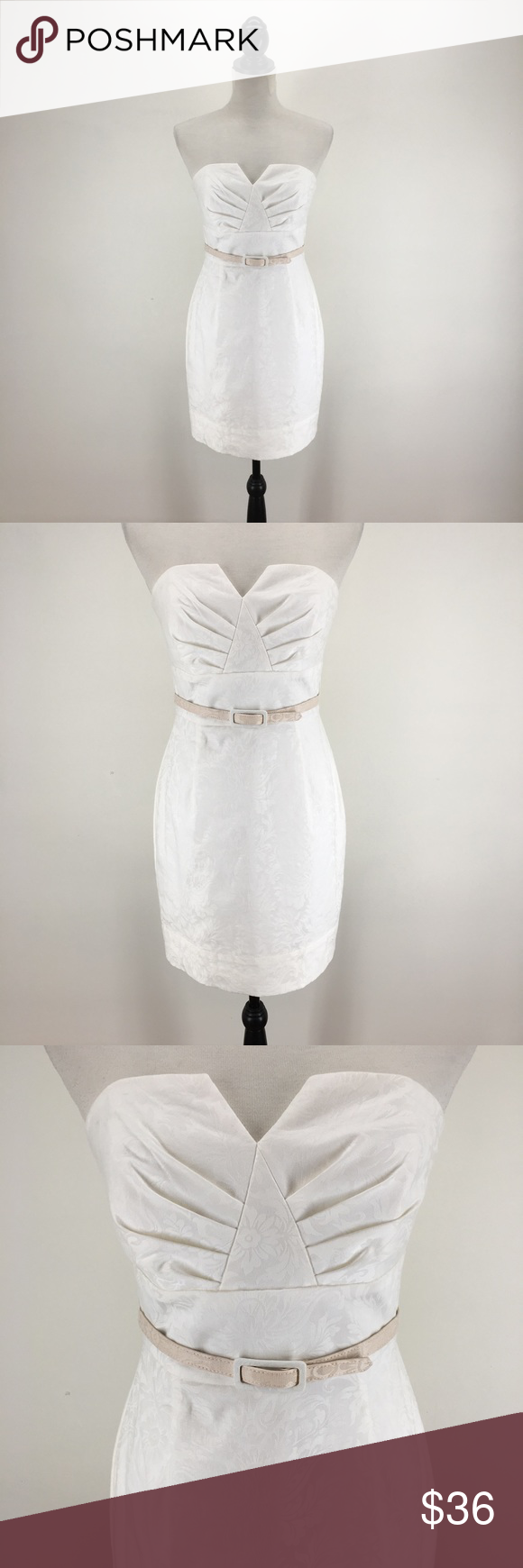 a6489da10b2 White House Black Market Brocade Strapless Dress Beautiful ivory strapless  dress in brocade from WH