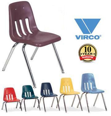 Lovely Virco 9000 Series Colorful School Chairs X 8 For Toddler X 20 For