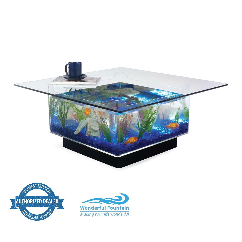 midwest tropical aquarium fish tank coffee table acvarii