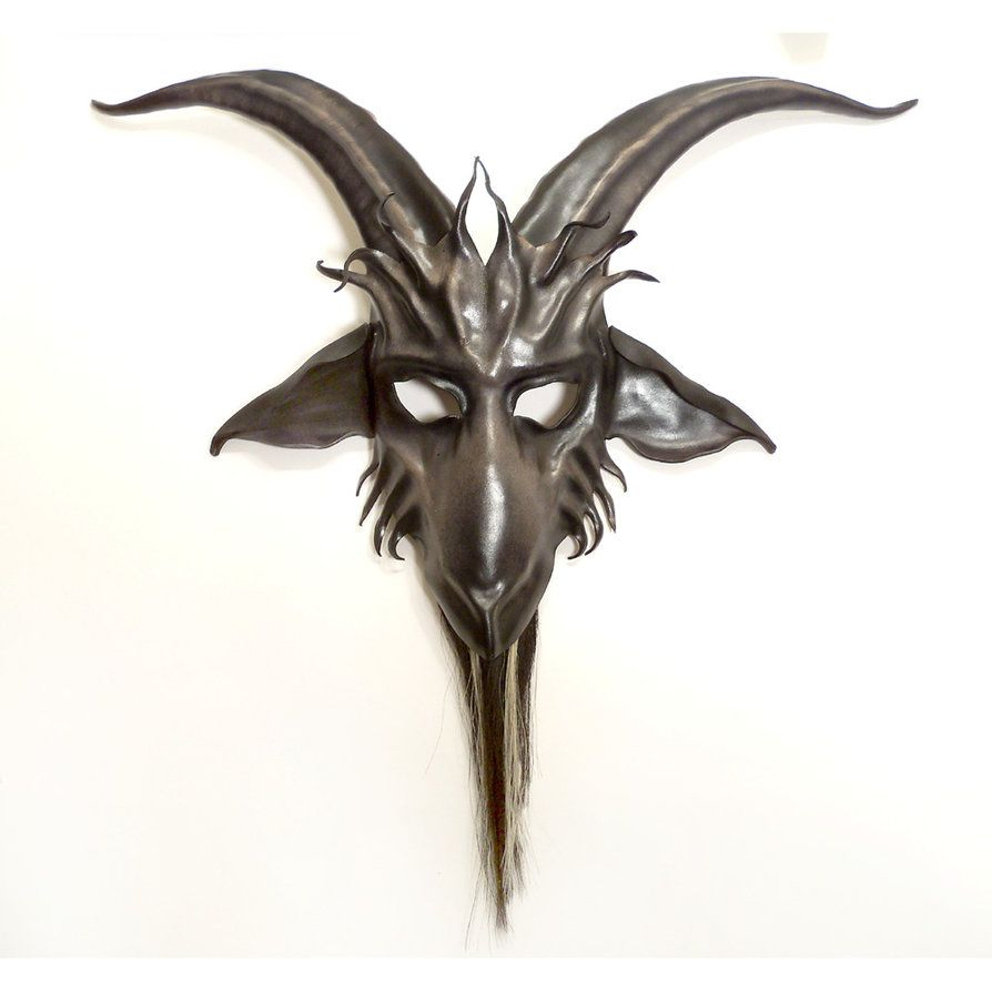 Leather Goat Mask Baphomet by teonova | H A L L O W E E N ...