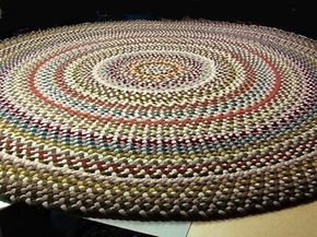 Handmade Braided Rugs By Marge An 11 Round Braided Rug Braided Rug Diy Braided Rugs Round Braided Rug